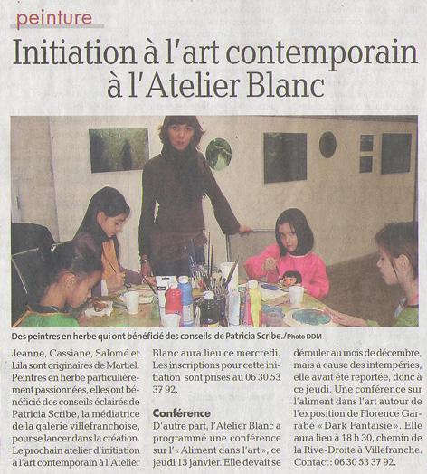 Revue de presse de l 39 atelier blanc 2010 for Syndrome miroir